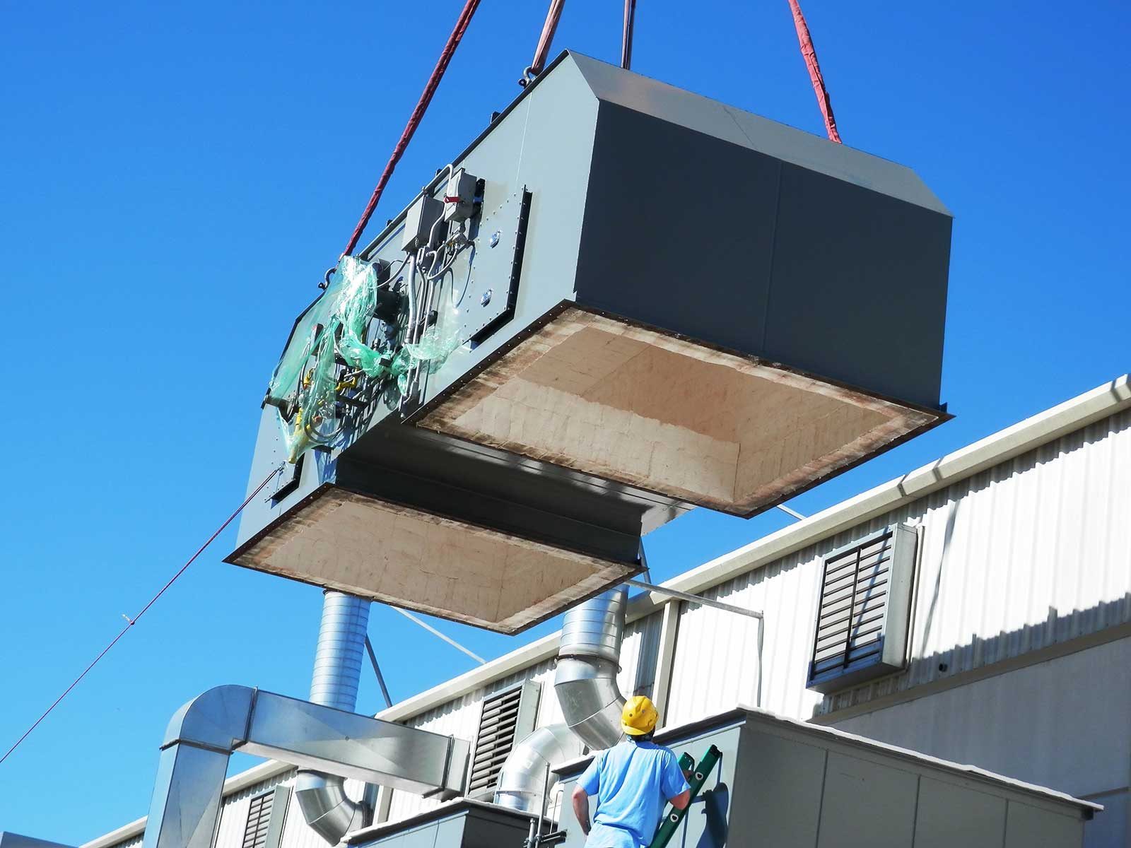 Air pollution control systems installation