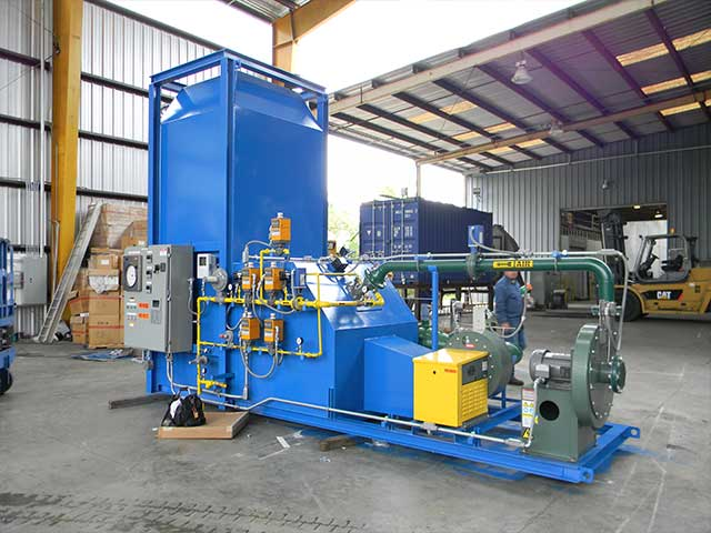 Direct fired thermal oxidizer