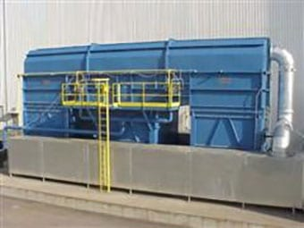 Regenerative thermal oxidizer for coil coating