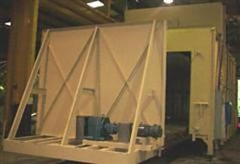 Industrial furnace with thermal oxidizer for US Government