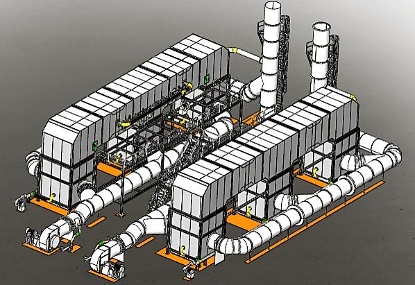 Regenerative thermal oxidizer for midstream industry rendering
