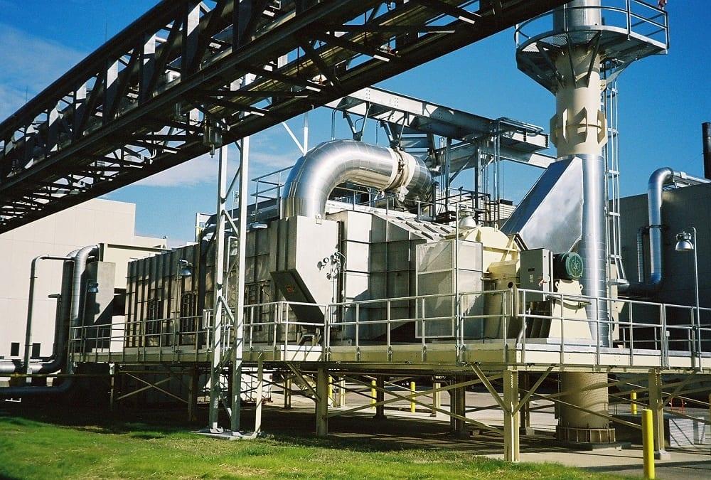 Catalytic oxidizer site